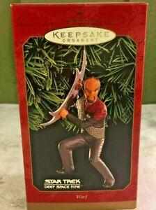 Hallmark-Keepsake-Ornament-Star-Trek-WORF-1999-Deep-Space-Nine-Klingon-NIB