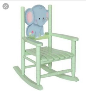 Remarkable Details About Teamson Kids Safari Wooden Rocking Chair For Children Elephant Used Gmtry Best Dining Table And Chair Ideas Images Gmtryco