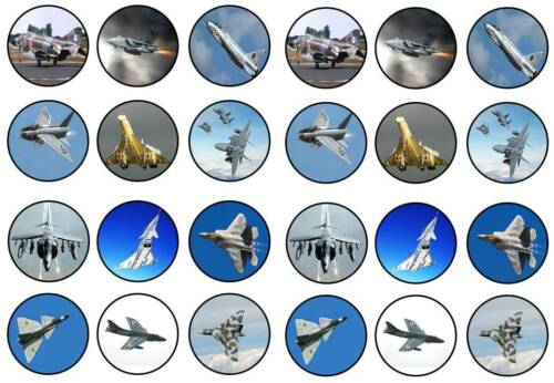 24 aile delta fighters concord vulcan toppers anniversaires party comestible papier