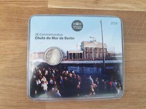 2-Euros-Commemorative-BU-France-2019-Mur-de-Berlin-Coincard-Officielle