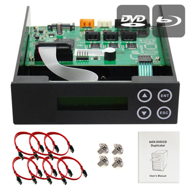 1-2-3-4-5 CD/DVD/Blu-ray SATA Burner Duplicator Copier CONTROLLER +Cables,Screws