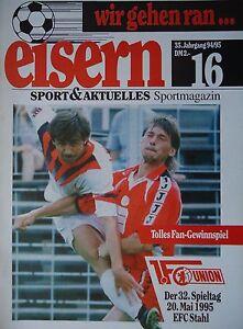 Stahl Eisenhüttenstadt Programm 1995//96 Spandauer SV
