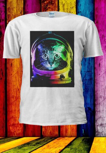 Astronaut Funny Cat In Space Colorful T-shirt Vest Tank Top Men Women Unisex 544