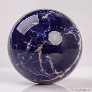 694g 83mm Large Natural Blue Sodalite Quartz Crystal Sphere Healing Ball Chakra