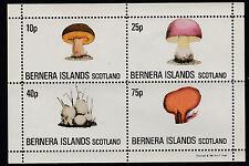 GB Locals - Bernera (1216) 1981 FUNGI perf sheetlet unmounted mint