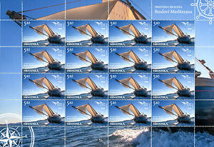 Croatia 2015 MNH Ships of Mediterranean 16v M/S Boats Brodovi Mediterana