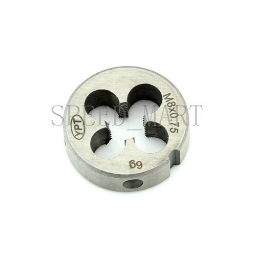 Metric Die Wrench Set Fine Pitch Thread Machine M8*0.75 Round Dies