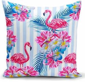 Kissenbezug Kissenbezüge Kissenhülle Deko Kissen  Kopfkissen Flamingo Leopard
