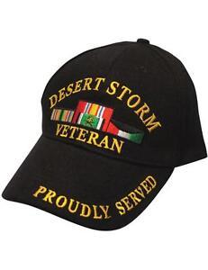 Desert Storm Veteran - Proudly Served - Black Hat