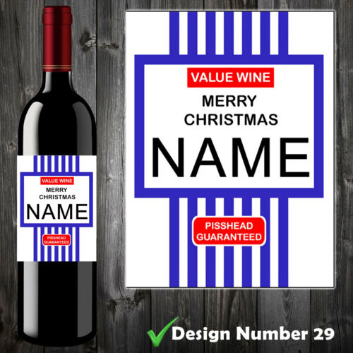 Funny Personalised Tesco Value Wine Label Spoof Perfect Christmas Gift