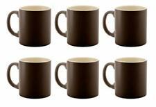 aus Reiner Keramik 300ml 6 Terra 2-farbig Braun//Creme Kaffeebecher Becher