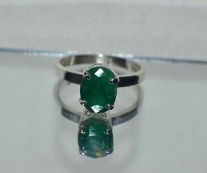 GLAMOROUS-3-50-ct-NATURAL-GENUINE-AFRICAN-EMERALD-925-STERLING-SILVER-RING