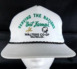 Coop-Snapback-Hat-Farmer-Seed-Feed-Grain-Elevator-Cap-Cotton-Wheat-Rural-OK