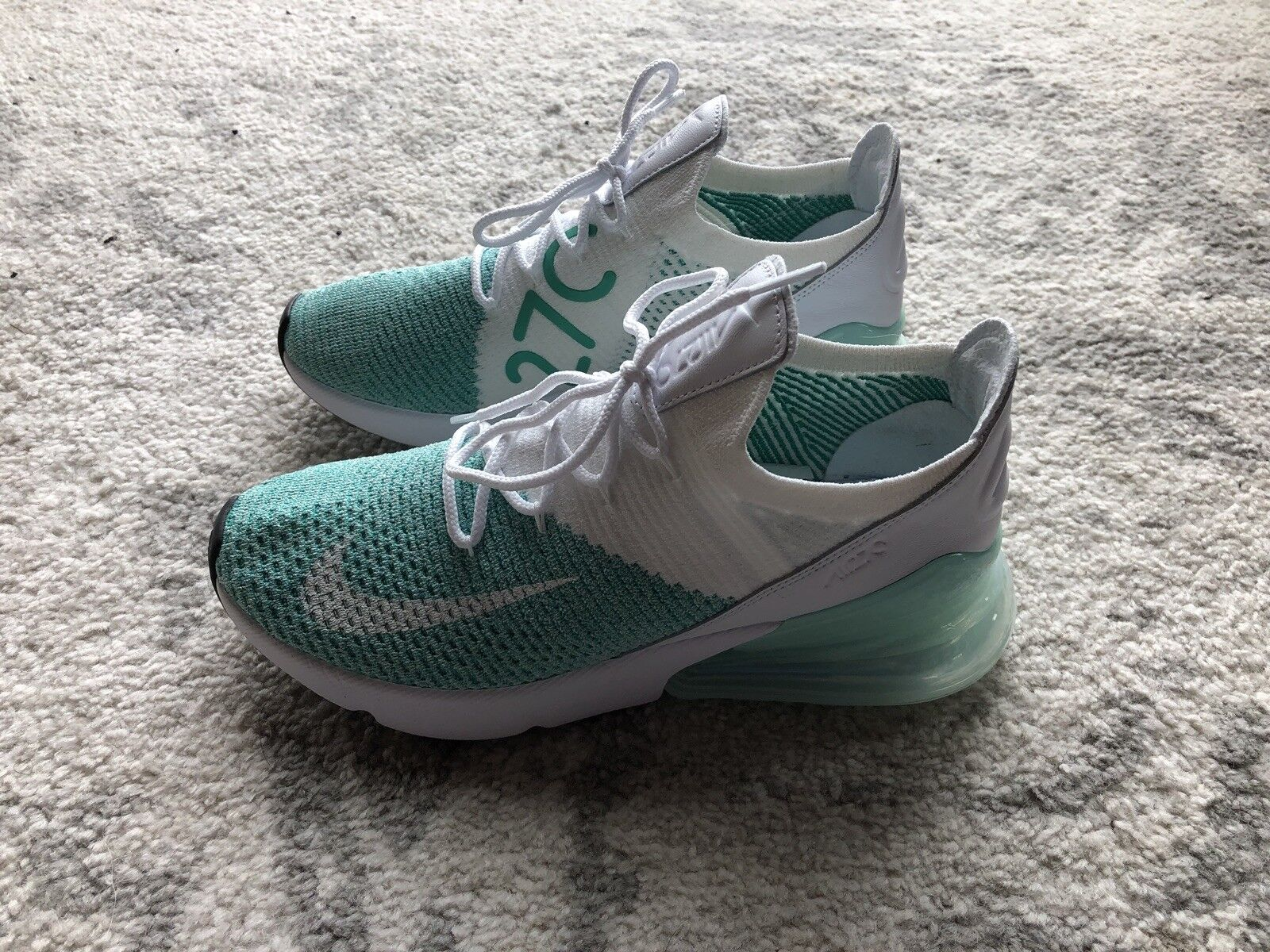 2500eb955e30 Nike Air Max 270 270 270 Flyknit Women s Running Shoes Igloo White AH6803- 301 Size 7.5 bba9be