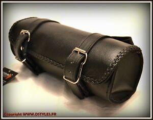 Rool-Bag-en-Cuir-Souple-Simple-pour-moto-trike-custom-leonart-daytona-spyder-VN