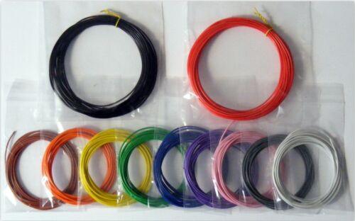 Stranded WP-031418 28 m 10//0.1mm équipement Fil Kit 11 Couleurs-miniature