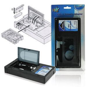 VHS-C-Adapterkassette-spielt-VHS-C-Camcorder-Baender-im-Videorekorder-ab-NEU