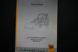 jcb 214 4 centermount backhoe loader owners parts manual book rh ebay com JCB Parts Online JCB Parts Breakdown