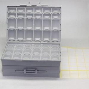2-Aidetek-BOXALL48-lids-SMD-SMT-empty-Components-enclosure-chips-diodes-Box-USA
