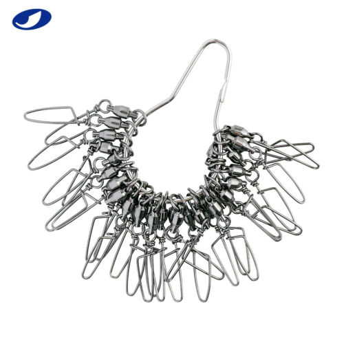 30-150 Pcs Ball Bearing Swivel with Coast Lock Stainless steel Fishing Tackle