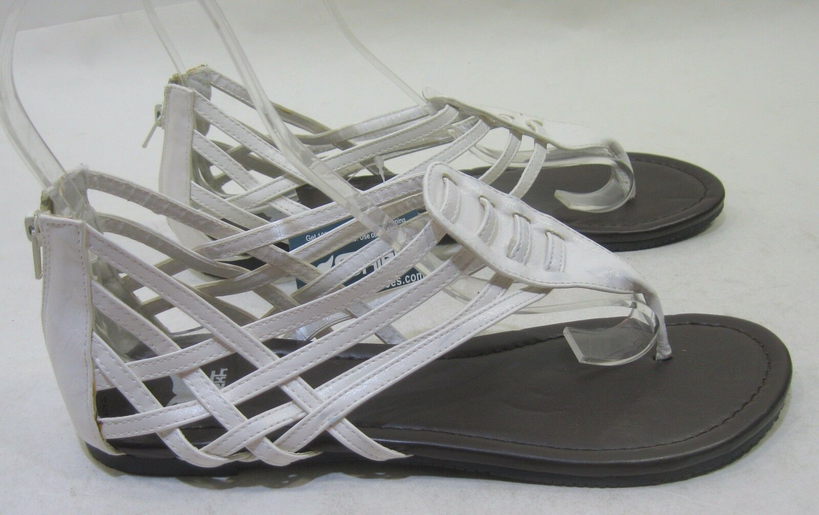 Womens Summer Sexy White Flat Ankle Strap Summer Sexy Summer Shoes Size 5 b3aa7e