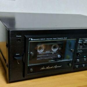 Nakamichi-660ZX-3-cabeza-Cassette-Estereo-Cinta-Cubierta-alineacion-de-acimut-Auto-Usado
