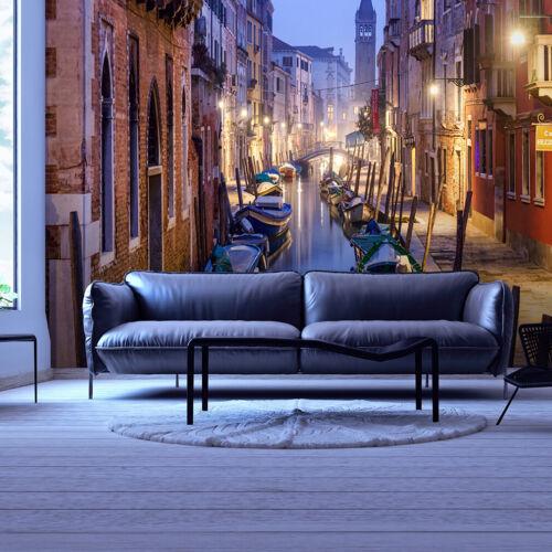 VLIES FOTOTAPETE Stadt Nacht Venice Europe TAPETE WANDBILDER XXL Wohnzimmer 063