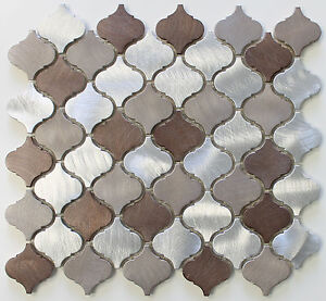 Casablanca Brushed Aluminum Arabesque Mosaic Tiles Kitchen Backsplash Tile Ebay