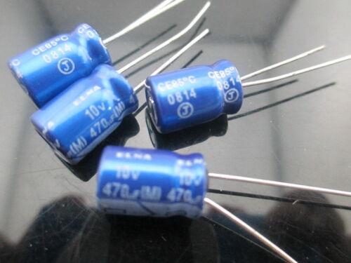 20pcs Japan ELNA RE3 470UF 10V 470mfd Audio Capacitor 8x11.5mm