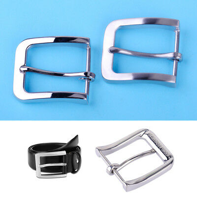 Fashion Stainless Steel Pin Buckle for Men Leather Belt Replacement Snap On 40mm