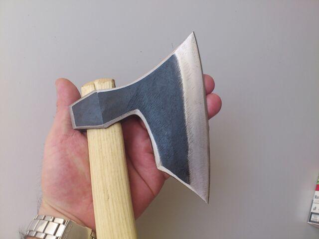 "Wildlife Bushcraft Hand Forged Viking Hatchet Axe BIG Size  5.71"" /Survival tool"