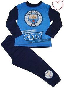 d6fea186 Image is loading Boys-Childrens-Pyjamas-Manchester-City-Pj-Set-Long-
