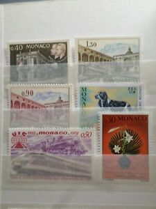 Monaco-Pack-Ag-Stamps-New-VF-MNH-Stamps