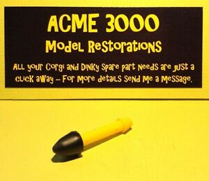Details about Dinky FAB1 100 SPV 104 353 361 Replacement Repro Rocket  Missile Yellow Black Tip