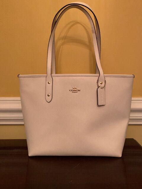 NWT COACH City Zip Top Tote Bag Purse Crossgrain Leather Large Shoulder F58846