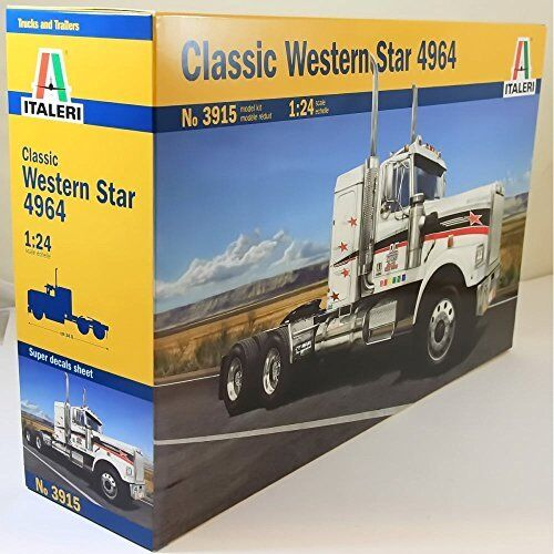 Classic Western Star 4964 Truck Camion Camion Camion Plastic Kit 1:24 Model 3915 ITALERI | Offre Spéciale  935917