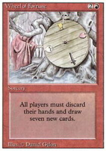 1x Wheel of Fortune PL/MP, English MTG Revised Edition