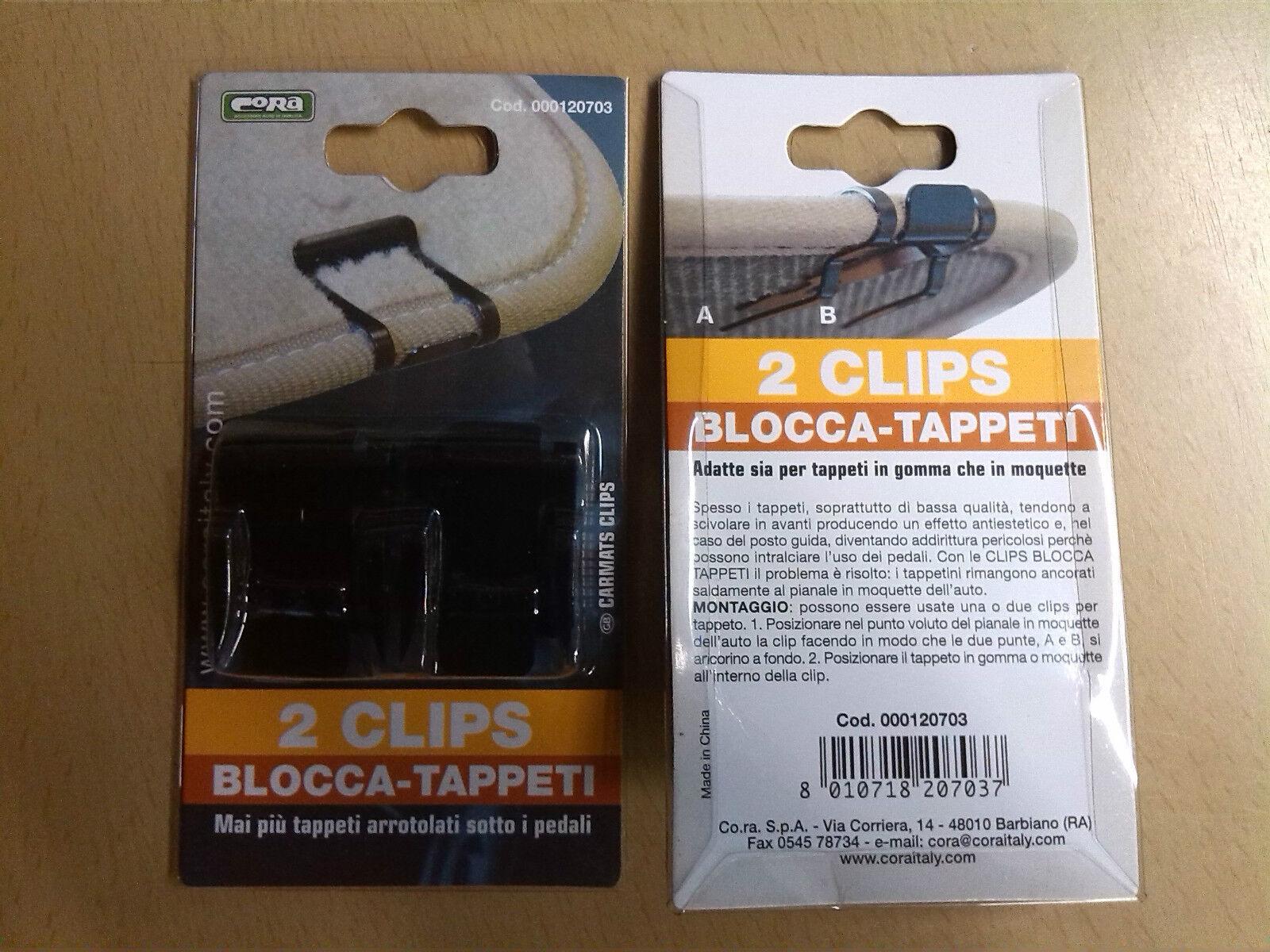 CORA 000120703 2 Clips Blocca Tappeti