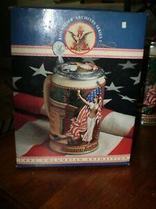 Anheuser Busch Budweiser Archives 1893 Columbian Exposition Stein w/COA NEW NIB