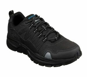 Black-Skechers-Mens-Shoes-Memory-Foam-Sport-Comfort-Casual-Hiking-athletic-51926