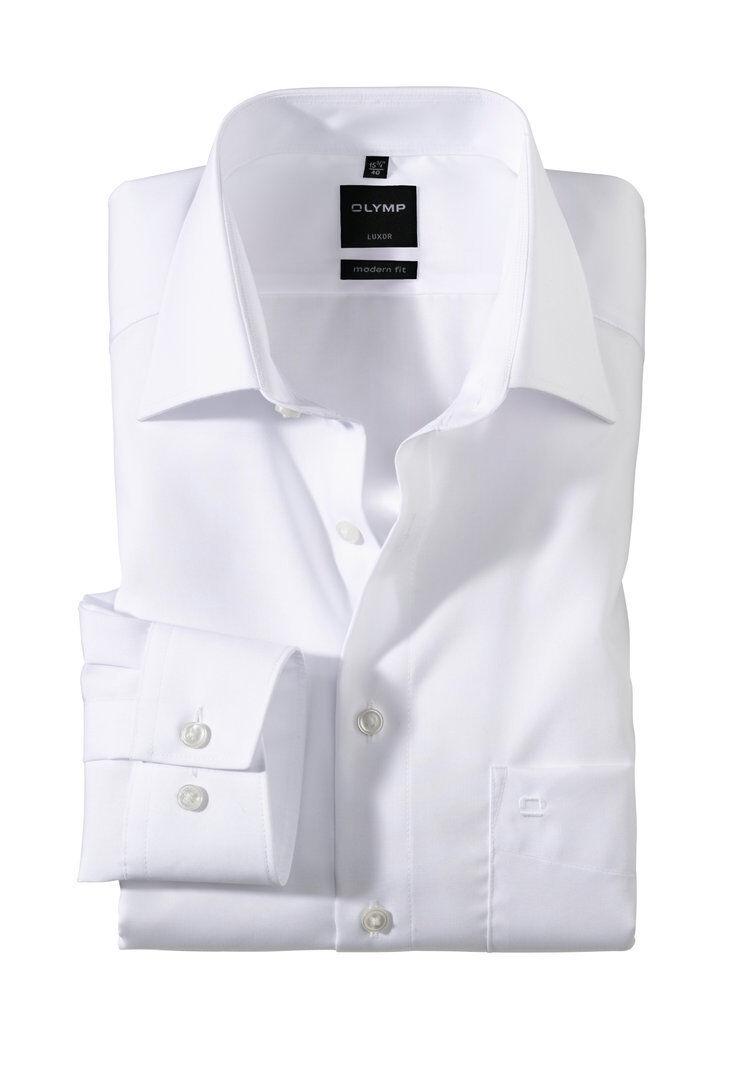 OLYMP Hemd - Luxor - modern fit - Farbe weiß - New Kent - NEU - Bügelfrei       New Style