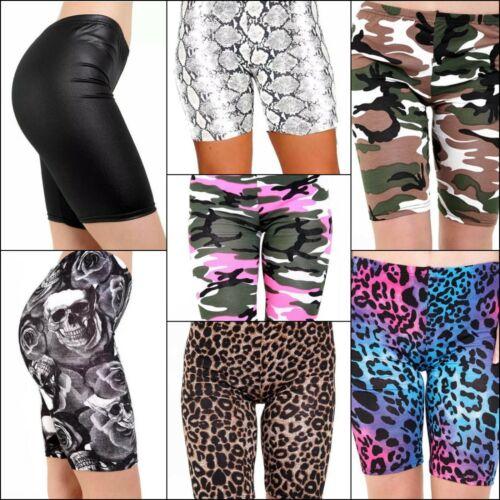 Shorts Cycling Gym Jogging Workout Dancing Bermuda Leopard Snake Camouflage Skul
