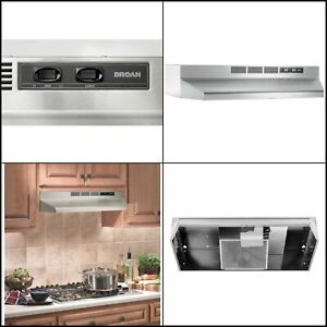 Stainless Steel 30 In Non Vented Ductless Under Cabinet Exhaust Fan Range Hood 784891982446 Ebay