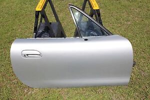 Image is loading MAZDA-MIATA-DOOR-99-2000-RIGHT-18G-GREY- & MAZDA MIATA DOOR 99 2000 RIGHT 18G GREY SILVER MX5 | eBay