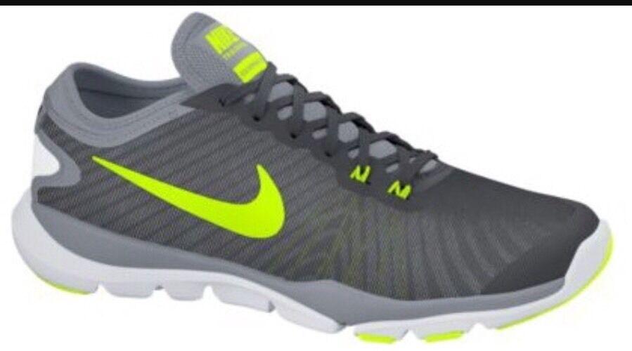 NEW Nike Women's Flex Supreme Cool Grey White Volt Size 9.5 823668-003