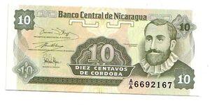 Nicaragua-10-centavos-1991-FDS-UNC-pick-169-lotto-3246