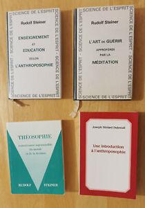 Lot de 4 livres anthroposophie - Steiner