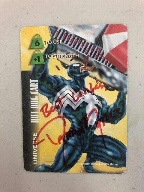 Daran Norris autographed Marvel Game Card- Transformers,Venom,etc. voice actor.