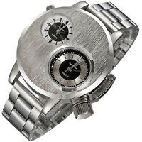 Hot Sale Men Watch Stainless Steel Date Military Sport Quartz Analog Wrist Watch