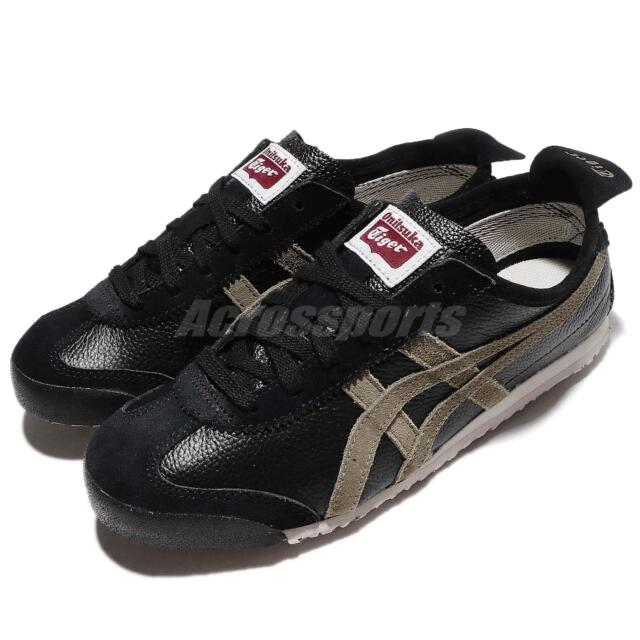 aef0172a1a56 Asics Onitsuka Tiger Mexico 66 VIN Vintage Black Men Women Shoes D2J4L-9086
